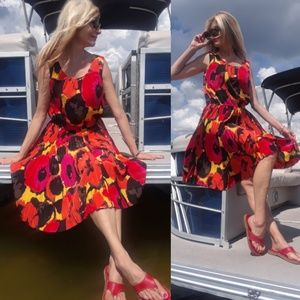 Alfani epic print sleeveless women's dress size 12